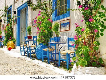 traditional Greece series - street tavernas