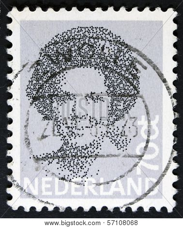 Postage stamp - isolated on black.