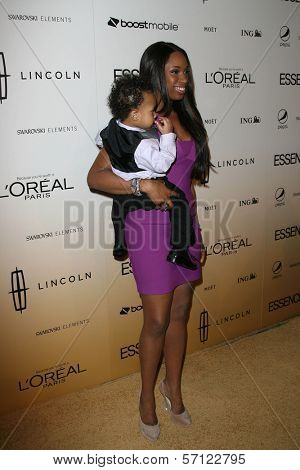 Jennifer Hudson with Son David Daniel Otunga Jr.  at the 4th Annual ESSENCE Black Women In Hollywood Luncheon, Beverly Hills Hotel, Beverly Hills, CA. 02-24-11