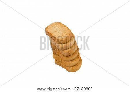 Rusks On A White Background