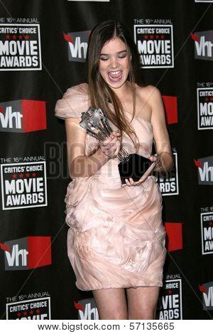 Halie Seinfeld at the 16th Annual Critics' Choice Movie Awards Press Room, Hollywood Palladium, Hollywood, CA. 01-14-11