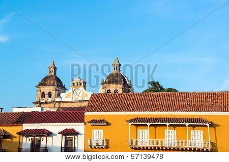 Colonial Facades And Church