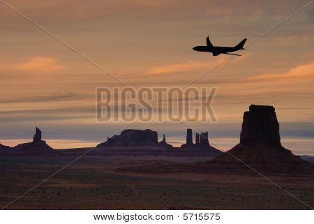 Flying Over Monument Valley