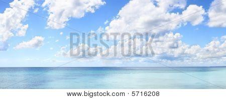 Tropical Blue Sky Panorama