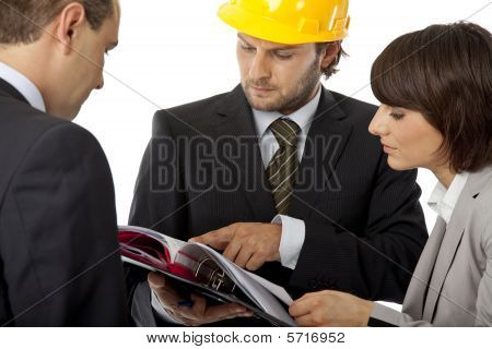 Auftragnehmer und Investor-treffen