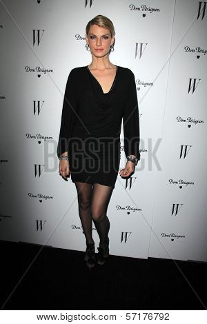 Angela Lindvall at the W Magazine Best Performances Issue Golden Globes Party, Chateau Marmont, West Hollywood, CA 01-13-12