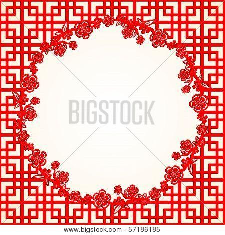 Chinese New Year Cherry Blossom Background
