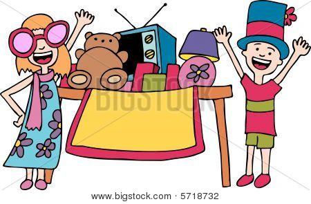Crianças vendendo