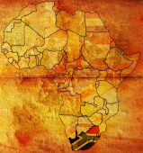 republic of south africa on africa map poster