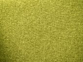 Yellow burlap fabric closeup for texture and backgrounds poster