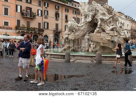 Four Rivers Fountain Navona Square