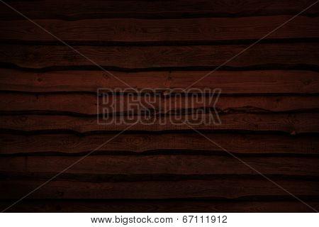 Natural wooden wall