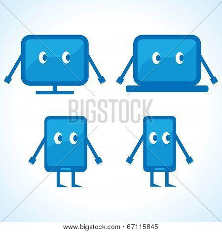 Different Cartoonish gadget designs stock vector