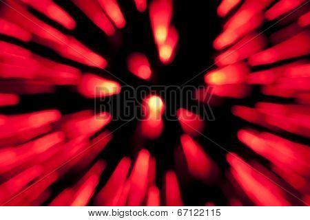 Red lights blur zoom