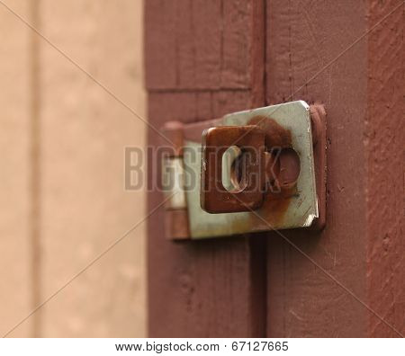 Old painted latch background