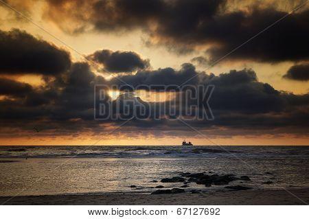 North Sea, Sunset