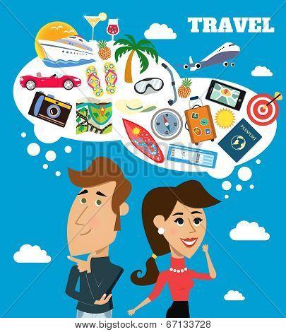 Travel dreams scene