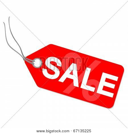 Hangtag With Sale And Percentage Sign