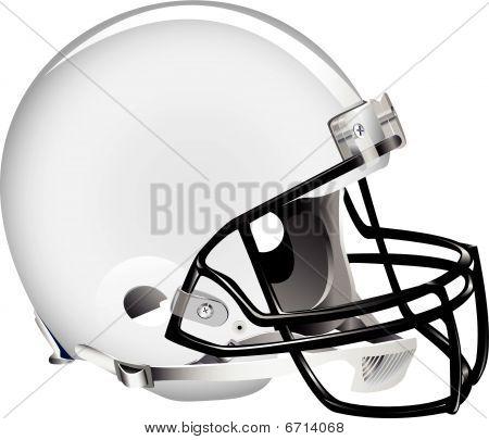weiße Fußball Helm