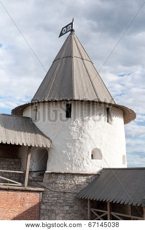 Nameless Round Tower Of The Kazan Kremlin, Tatarstan, Russia
