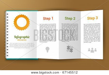 Notepad unfolded infographic