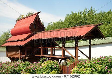 Monastery Aviary In In Sts. Boris And Gleb Monastery, Dmitrov Town