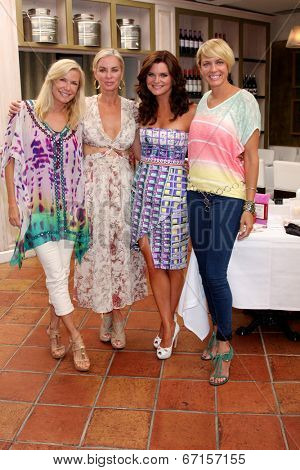LOS ANGELES - JUN 21:  Katherine Kelly Lang, Eileen Davidson, Heather Tom, Arianne Zucker at the Leading Ladies of Daytime Luncheon 2014 at the Fig & Olive  on June 21, 2014 in Los Angeles, CA