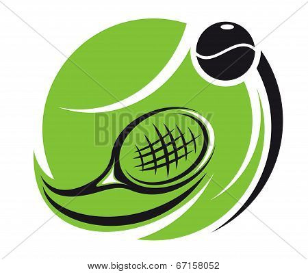 Stylized tennis icon