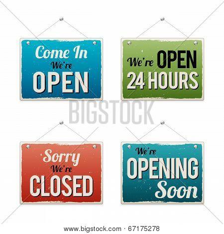 Retro Business Open Sign