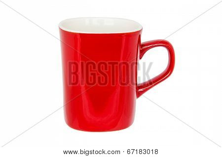 Red Mug Isolated On White