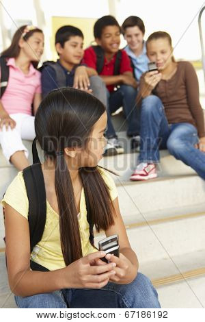 Girl being bullied in school