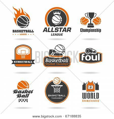 Basketball icon set - 2