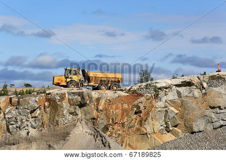 Stone Quarry And Clear Sky