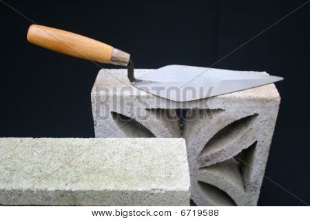 Blocks and builders trowel