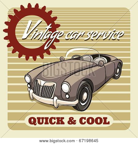 Quick and Cool - Vintage Car Service poster