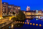 Clarence dock is the newly developed in Leeds city center England poster