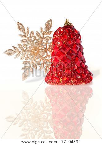 Splendid Christmas Bell Incrusted With Imitation Iewelry