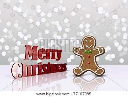 Glamour Gingerbread Christmas Man
