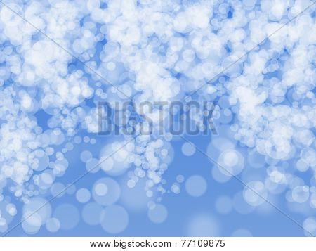 Blurred blue sparkles, Christmas backgrounnd