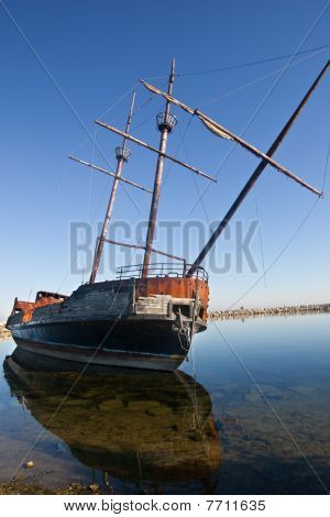 Abandoned Old Pirate Ship