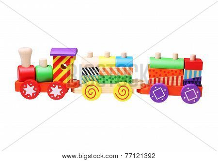 wooden toy train for children