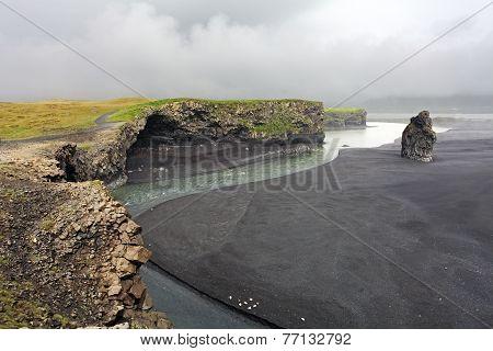 The Black Sand Beach Of Reynisfjara - Dyrholaey, Iceland