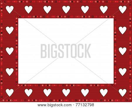 Red Gem Heart Frame