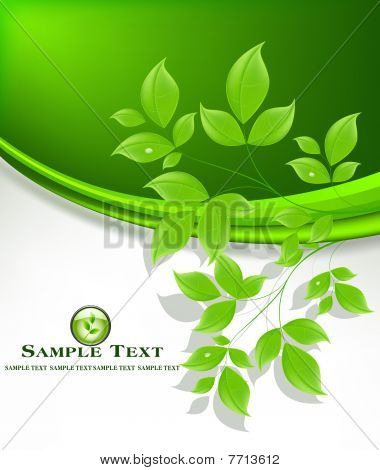 Abstract floral ecology background