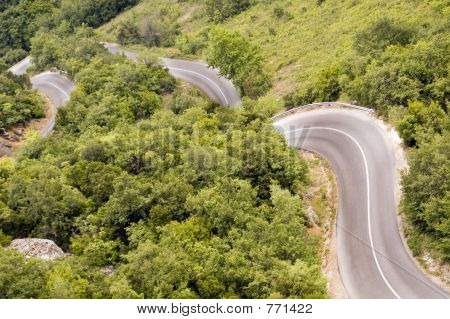 tight mountain road