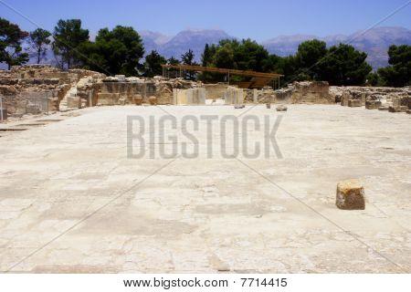 Patio central Phaistos Creta