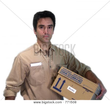 Serious Delivery Man