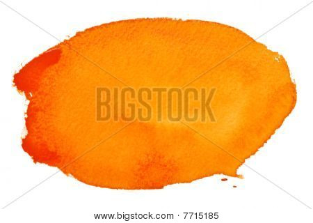 Orange Watercolor Brush Strokes
