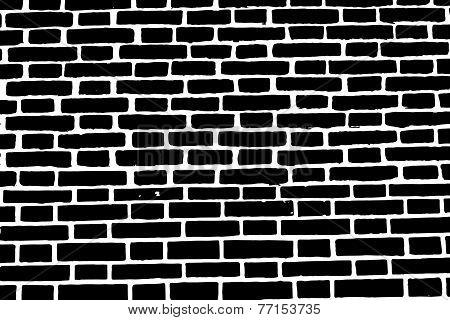 Black Brick Wall Texture Background Old Rough Masonry