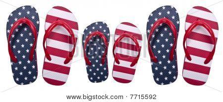 Patriotic American Family